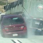 "Breaking Footage: Semi ""Unknowingly"" Drags Sedan Up Cajon Pass"