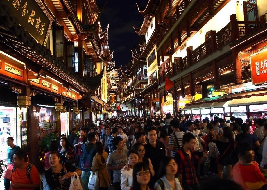 Shanghai, the world's most populated city.