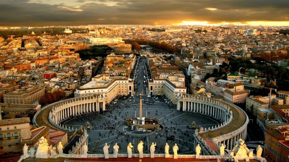 Vatican City, the world's least populated city.