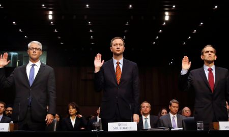 Senate Intelligence Committee Grills Facebook, Twitter, and Google about Russia's Role in 2016 Presidential Election