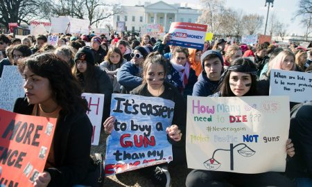 High School Students Stage National Walk-Out to Protest Gun Laws
