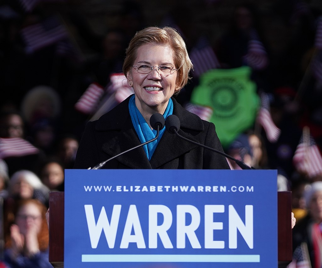 Warren while formally declaring her candidacy in Lawrence, Massachusetts on February 9, 2019 Photo by Elizabeth Warren