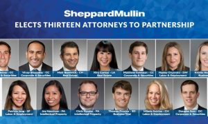 Shepard Mullin Promotes 13 Attorneys to Partnership